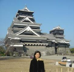 In front of Kumamoto Castle