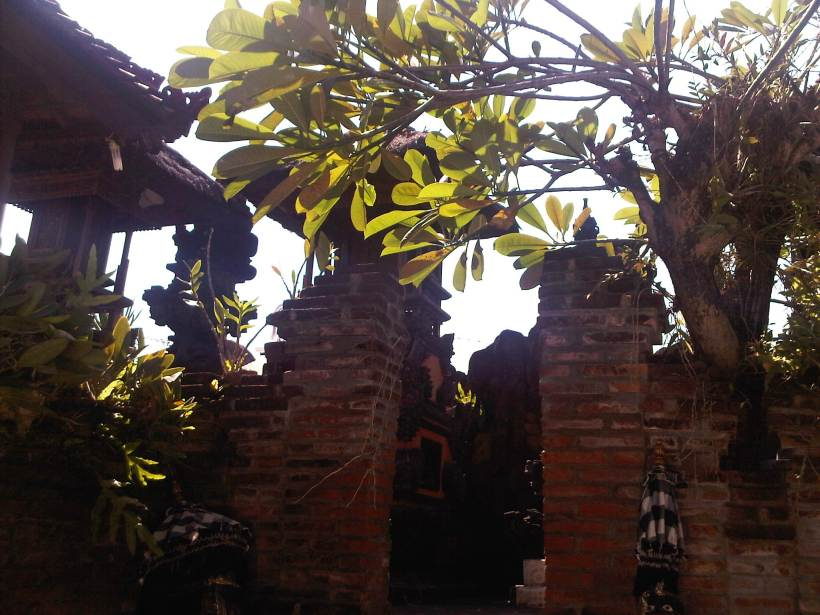 Temple at Balinese Home
