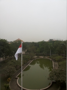 Aint no sunshine on the horizon, view from Rectorate Building, ITS, Surabaya